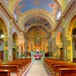 Ctholic church interior view. — Stock Photo