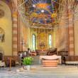 San Lorenzo Cathedral interior view in Alba, Italy. - Stock Photo