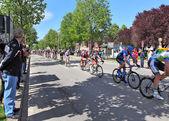Giro D'Italia on streets of Alba. — Stock Photo