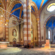 图库照片: SLorenzo Cathedral interior view in Alba, Italy.