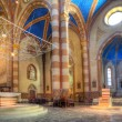 San Lorenzo Cathedral interior view in Alba, Italy. — Stock Photo