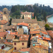 Aerial view on town of Sirmione in Italy. — Stock Photo