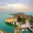 View on Sirmione and Lake Garda fro the castle. — Foto Stock