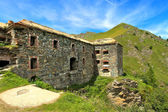 Military alpine fort in Alps, Italy. — Stock Photo