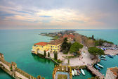 View on Sirmione and Lake Garda fro the castle. — Stock Photo
