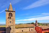 Old church in small italian town. — Stock Photo