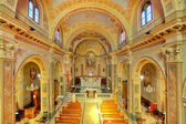 Catholich church interior view. — Stock Photo