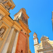 Fragment of basilica in Menton, France. — Stock Photo