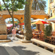 City square with bars and restaurants in Menton, France. — Stock Photo