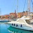 Yachts on marina of Menton, France. — Stock Photo