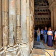 Pillars at the entrance to Church of the Holy Sepulchre. — Stock Photo