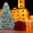 Christmas tree on city square. Alba, Italy. — Stockfoto #32866439