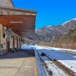 Small railway station in Alps. — Stock Photo