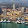 View of port and buildings in Monte Carlo, Monaco. — Stock Photo