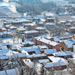 Small town covered with snow in Piedmont, Italy. — Foto Stock