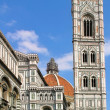 Belfry and Duomo Cathedral in Florence. — Stock Photo