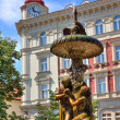 Sculptural fountain in Prague. — Stock Photo #36083409