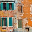 Facade of typical venetian house. — Stock Photo