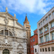 Church and modern building in Venice, Italy. — Stock Photo