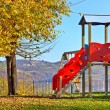 Stock Photo: Slide on empty playground.
