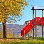 Slide on empty playground. — Stock Photo