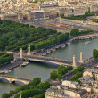 Aerial view of Paris, France. — Stock Photo