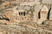 Ancient tomb and cemetery in Jerusalem, Israel. — Stock Photo