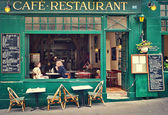 Typical parisian cafe. — Stock Photo