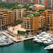 Marina and modern buildings in Monte Carlo, Monaco. — Stock Photo