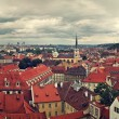 Panorama of rooftops in Prague. — Stock Photo