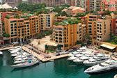 Marina and modern buildings in Monte Carlo, Monaco. — Stock Photo