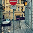Rainy day in Prague. — Stock Photo
