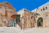 Courtyard of Coptic Ortodox Church in Jerusalem. — Stock Photo