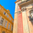 Architectural details in Menton, France. — Stock Photo