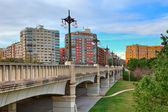 Bridge over Gardens of Turia in Valencia. — Stock Photo