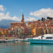 View of marinand old part of Menton, France. — Stock Photo #41863873