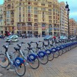 Bicycle station on city square. — Stock Photo #41864923