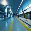 Metrovalencia train station in airport. — Stock Photo