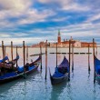 Gondolas and SGiorgio Maggiore church in Venice. — Stock Photo #41867141