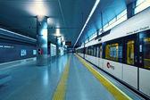 Metrovalencia train station in airport. — Stock Photo