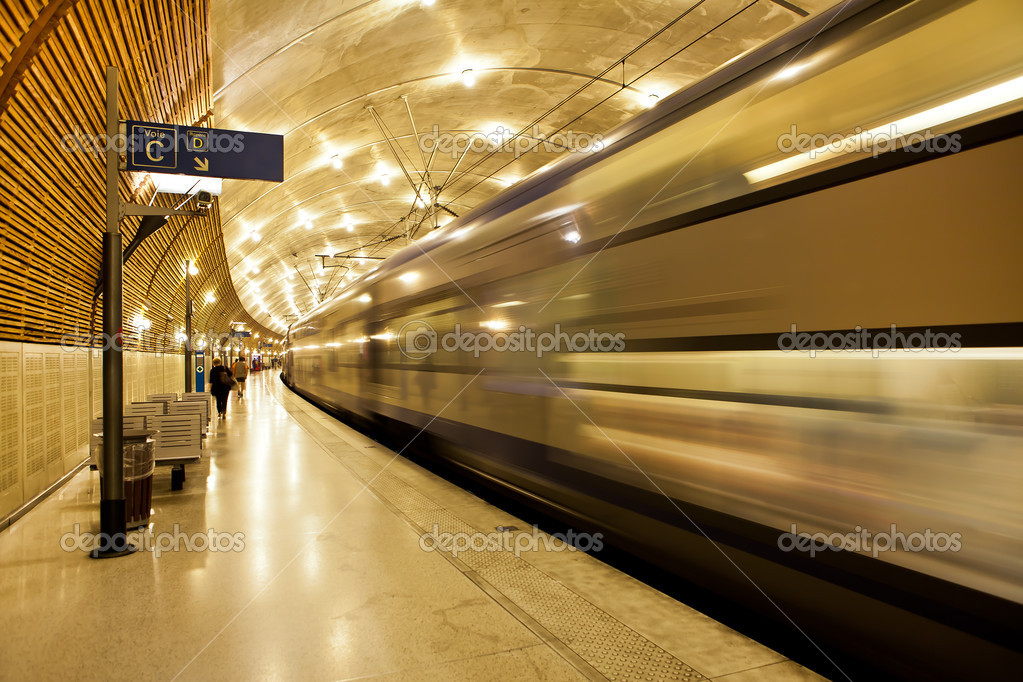 Underground train station in Monaco. — Stock Photo © rglinsky ...