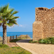 Stock Photo: Promenade and ancient tomb in Ashkelon, Israel.