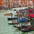 Gondolas on Grand Canal in Venice, Italy. — Stock Photo #42316991