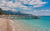 Shoreline and sea view in Kemer, Turkey. — Stock Photo