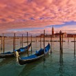 Sunset time in Venice, Italy. — Stock Photo