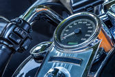 Motorcycle peedometer and handlebar. — Foto de Stock