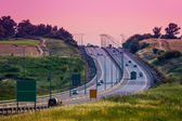 Intercity highway at evening. — Stock Photo