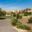 Urban park, Tower of David and citadel in Jerusalem. — Stock Photo #45075941
