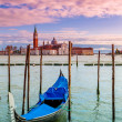 Gondola on Grand Canal in Venice, Italy. — Stock Photo