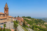 Church and hills of Piedmont, Italy. — Stock Photo
